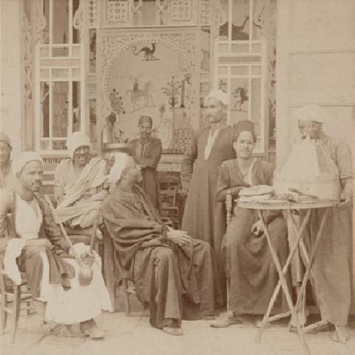 قهوة في القاهرة عام 1898، أرشيف مكتبة الكونغرس
