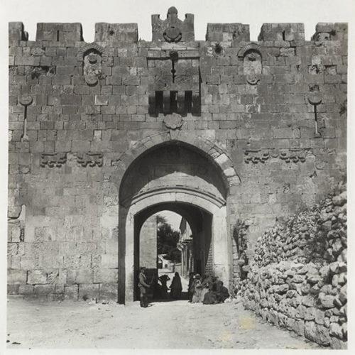 باب الأسباط، بداية القرن العشرين، أرشيف تروتر ريد. المكتبة الوطنية الاسرائيلية