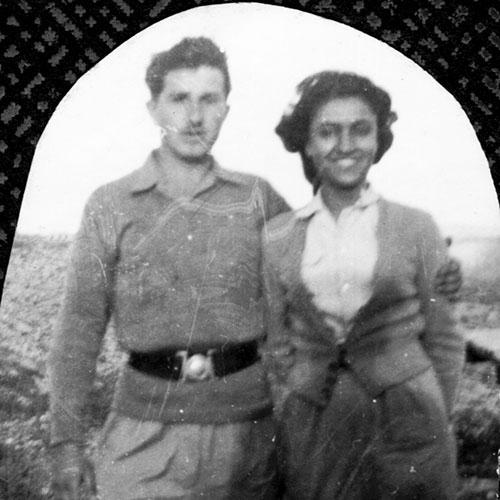 كلارا دي هيرتوخ وإليعزر غرايبر، لفتا، أرشيف ياد يتسحاك، المكتبة الوطنيّة