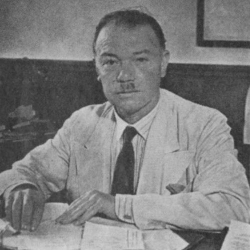 الأستاذ أحمد سامح الخالدي، مدير الكلية العربية. مجلة هنا القدس، 6 كانون الأول 1942