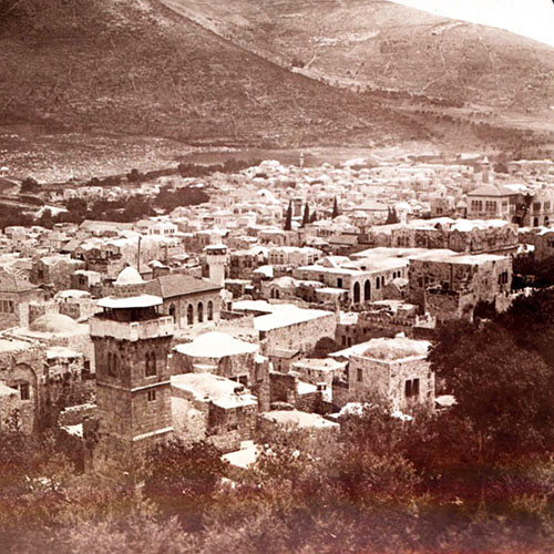 نابلس، مسقط رأس قدري طوقان، 1890-1910